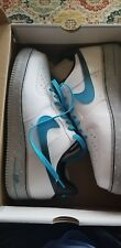 da0e9719831 Nike 488298 119 AF1 Air Force One Galaxy Pack White Blue Basketball Shoe Sz  12
