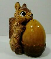Vintage Nesting Squirrel and Acorn Salt and Pepper Shakers Made in Japan