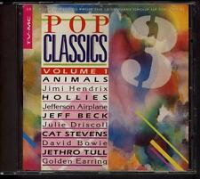 POP CLASSICS VOL 1-3  CD Jethro Tull David Bowie Jeff Beck Golden Earring Band