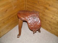 Antique Early Victorian English Leather Pony Piltch Pad Saddle (Museum Piece)