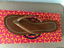 BRAND NEW TORY BURCH TERRA IN ROYAL TAN AND GOLD SIZE 6
