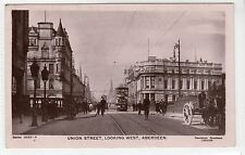 UNION STREET, LOOKING WEST, ABEREEN: Aberdeenshire postcard (C25048)