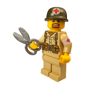 WW2 US Medic Made With REAL LEGO® Minifigure Parts