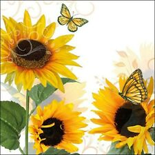 20 Paper Party Napkins Sunny Butterfly pack of 20 3 Ply Luxury Tissue Serviet