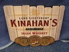 "THE LORD LIEUTENANT KINAHAN'S IRISH WHISKEY LED SIGN~ NEW in BOX ~ 23""X20""X2 """