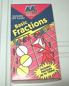 Media Materials Basic Fractions Includes 105 Flash Cards up to 12th