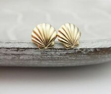 Clam Sea Shell Earrings Seashell Stud Beach Conch Nautical Men Women Girls