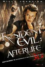 RESIDENT EVIL: AFTERLIFE Movie Promo POSTER Milla Jovovich Ali Larter Wentworth