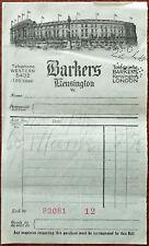 Barkers Kensington Billhead 11th December 1928