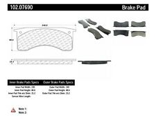 Disc Brake Pad Set-C-TEK Metallic Brake Pads Rear,Front Centric 102.07690