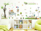 Removable Tree Bird Listining To Music Wall Sticker Wall Decal Home Decor Diy Sy