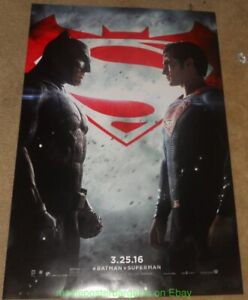 BATMAN VS SUPERMAN: Dawn of Justice MOVIE POSTER DS 27x40 Final WithOut Credits!
