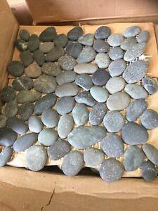 Charcoal River Pebble Tiles 30x30cm  Sheets (11sheets Per Box-1.1 metre Square)