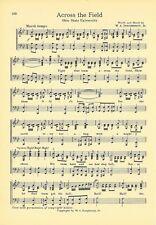 """OHIO STATE UNIVERSITY Vtg Song Sheet c1932 """"Across the Field"""" Original"""