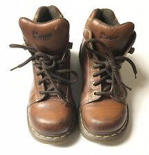 Doc Martens (8542) Women's Sz 7 Brown Ankle Leather Boots Air Cushion Sole