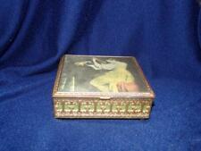 "Y In Yacht Brass Music Box ""Lute Player"" By Orazio Gentileschi-Ornate"