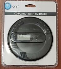 Black ONN Portable CD player with FM radio (FACTORY SEALED) Retro 80's 90's