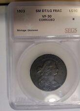 1803 1C  Sm Date Lg Frac  Draped Bust Large Cent VF DETAILS