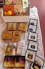 Lot L'OCCITANE Divin Skin Care Samples Lip Balm, Almond Oil, Bag, Herbae Perfume