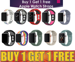 for Apple Watch Series 1 2 3 4 5 6 38/40/42/44mm Soft Silicon Sport Strap Band