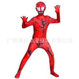 Kids/Adult Venom2 Carnage Cletus Kasady Bodysuit Cosplay Costume Zentai Jumpsuit