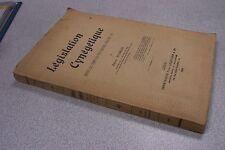 CHASSE LEGISLATION CYNEGETIQUE depuis les temps les plus reculés JEAN DUMAS 1902