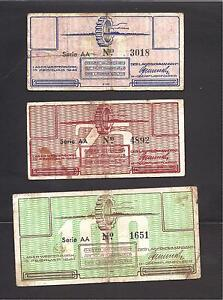Netherlands SS Camp Westerbork , lot of 3 pieces, All VF, 1944, WW2 , Judaica
