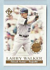 LARRY WALKER 2001 PRIVATE STOCK PREMIERE DATE /90