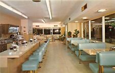D85/ Tulare California Ca Postcard Chrome Perry's Ranch House Cafe Interior 15