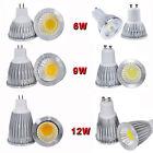 2x5pcs MR16 GU10 COB Dimmable 6W 9W 12W Spot down light LED lamp bulb bright