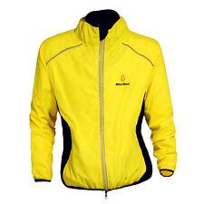 Men Waterproof Jersey Cycling Breathable Windbreaker Jacket Sports Coat 5 Colors Yellow L