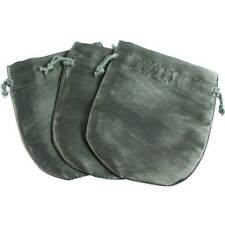 3-PAK_SATIN GRAY-GREEN JEWELRY GIFT POUCHES