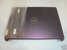 NEW DELL STUDIO 1535 1536 1537 LCD BACK COVER+HINGES ANTENNA PLUM M122C