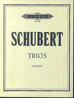 Schubert : TRIOS Op. 99, 100 - komplett mit allen Stimmen