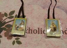Brown Wool Scapular in Soft Plastic  NEW