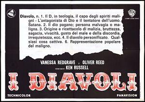 I DIAVOLI MANIFESTO FILM KEN RUSSELL DEAR WARNER 1977 THE DEVILS MOVIE POSTER 1F
