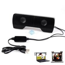 Mini Portable Clip-on 2.0 Wired Speaker Soundbar for Cellphone Laptop Tablet