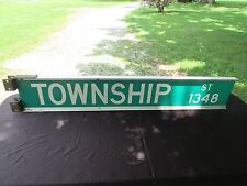 "Authentic Vintage Street Road Sign Township Street 1348 58"" X 10"""