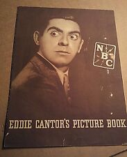 EDDIE CANTOR PICTURE BOOK -1933 NBC RADIO LARGE FAN FOLDOUT - Original envelope