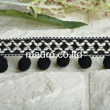 1Yard Tassel Pompoms Lace Trim Fringe Ribbon Embroidery Fabric Sewing Crafts DIY