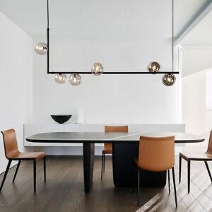 6 Head Modern Glass Pendant Lamp Bubble Chandelier Room Ceiling Light Home NEW