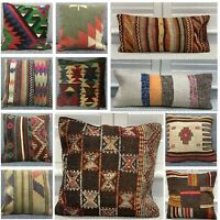 Handmade 100% Wool Turkish Moroccan Kilim Cushion Covers