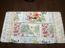 1 Large Handmade Placemat Shabby Chic Birds Butterfly Floral Free Shipping USA