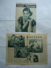 KAY FRANCIS /2 french magazines/1933