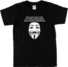 Guy Fawkes T-Shirt - Protest T Shirt, S-XXL