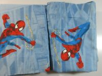 "Spider Man Marvel Comics Children's Window Valance Super Hero Pair 83"" x 15"" New"
