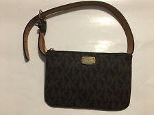 Michael Kors MK Logo Fanny Pack Belt Bag #552744C Chocolate Brown Size S