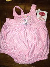 Disney'S - Minnie's One Piece Pink Polka Dot Swimsuit W/ Upf 50+.Size- 3M. Nwt.
