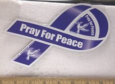 Pray For Peace Blue Magnetic Ribbon