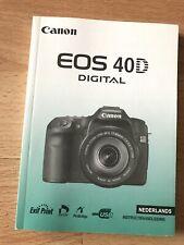 CANON EOS 40D gebruiksaanwijzing Instructiehandleiding Nederlands